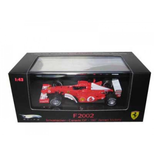Ferrari F2002 Michael Schumacher Canada GP 150th Ferrari Victory Elite Ed 1/43 Diecast Model Car by Hotwheels