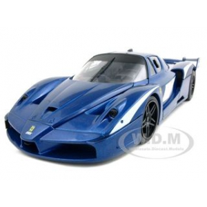 Ferrari FXX Evoluzione Blue 1/18 Diecast Car Model by Hotwheels