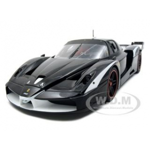 Ferrari FXX Evoluzione Elite Edition Black 1/18 Diecast Model Car by Hotwheels