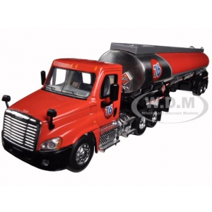 Freightliner Cascadia with 42 76 Fuel Tanker 1/64 Diecast Model by First Gear