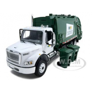 Freightliner MR Rear Load Refuse Garbage Truck Waste Management With Bins Diecast Model 1/34 by First Gear
