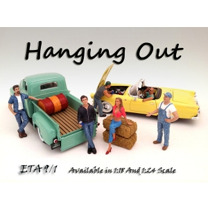 """Hanging Out"" 6 Piece Figure Set For 118 Scale Models by American Diorama"