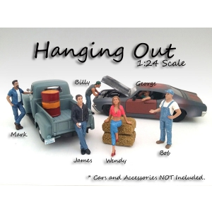 """Hanging Out"" 6 Pieces Figure Set For 124 Scale Models by American Diorama"