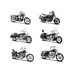 Harley Davidson Motorcycle 6pc Set Series 32 1/18 by Maisto