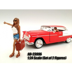 Hitchhiker 2 Piece Figure Set For 124 Scale Models by American Diorama