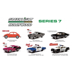Hollywood Series / Release 7 6pc Diecast Car Set 1/64 Diecast Model Cars by Greenlight