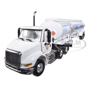 "International 8600 ""GULF"" with 42 Fuel Tank Trailer 1/64 Diecast Model by First Gear"
