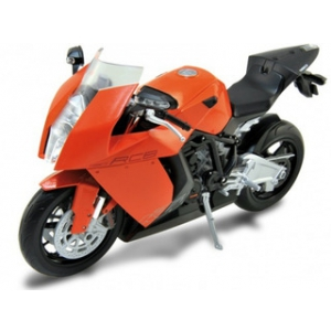 KTM 1190 RC8 Orange 1/10 Diecast Motorcycle Model by Welly