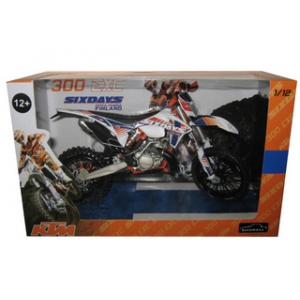 KTM 300 EXC Dirt Bike 6 Days Kotka-Hamina Finland Motorcycle Model 1/12 by Automaxx