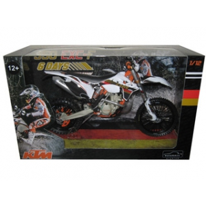 KTM 350 EXC-F Dirt Bike 6 Days Germany Saxony Motorcycle Model 1/12 by Automaxx