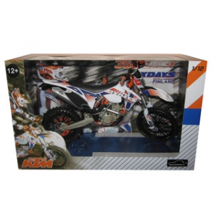 KTM 350 EXC-F Dirt Bike 6 Days Kotka-Hamina Finland Motorcycle Model 1/12 by Automaxx