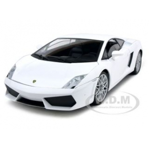 Lamborghini LP 560-4 White 1/18 Diecast Car Model by Mondo