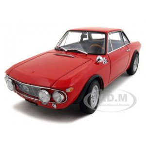 Lancia Fulvia 1.6H Fanalone Red 1/18 Diecast Model Car by Autoart