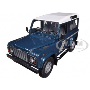 Land Rover Defender 90 Station Wagon Blue 1/18 Diecast Car Model by Universal Hobbies