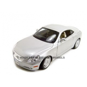Lexus SC 430 Coupe Silver 1/18 Diecast Model Car by Bburago
