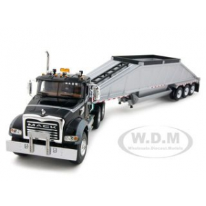Mack Granite MP Green With Bottom Dump Trailer 1/50 Diecast Car Model by First Gear