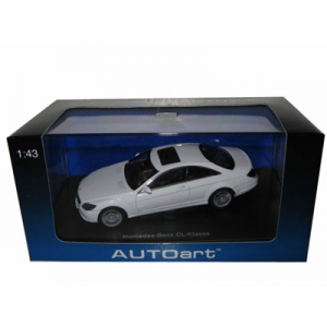 Mercedes CL Coupe White 1/43 Diecast Model Car by Autoart