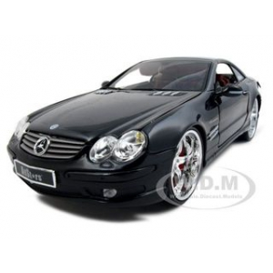 "Mercedes SL 55 AMG ""All Stars"" Black 1/18 Diecast Model Car by Maisto"