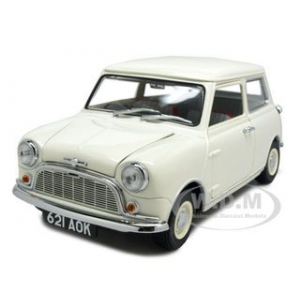 Morris Mini Minor White 50th Anniversary 1/18 Diecast Model Car by Kyosho