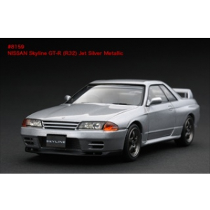Nissan Skyline GT-R R32 Jet Silver Metallic 1/43 Diecast Model Car by HPi Racing