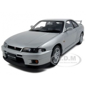 Nissan Skyline GT-R R33 V-Spec Sonic Silver 1/18 Diecast Model Car by Autoart