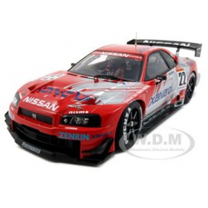 Nissan Skyline GT-R R34 Xanavi Nismo 22 JGTC 2002 Commemorative Edition 1/18 Diecast Car Model by Autoart