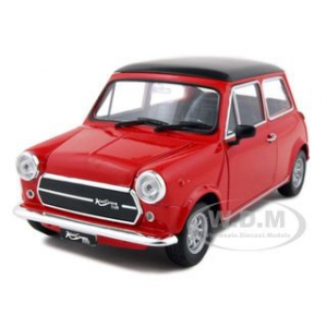Old Mini Cooper 1300 Red 1/24 Diecast Car Model by Welly