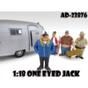 "One Eyed Jack ""Trailer Park"" Figure For 118 Scale Diecast Model Cars by American Diorama"
