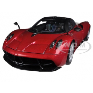 Pagani Huayra Metallic Red 1/18 Diecast Car Model by Autoart