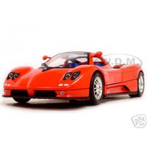 Pagani Zonda C12 Red 1/18 Diecast Model Car by Motormax