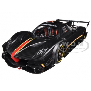 Pagani Zonda Revolution / Revolucion Black Carbon Fiber 1/18 Diecast Model Car by Autoart