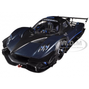Pagani Zonda Revolution / Revolucion Blue Black Carbon Fiber 1/18 Diecast Car Model by Autoart