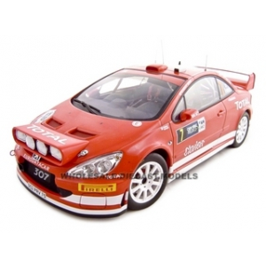 Peugeot 307 2005 WRC M.Gronholm/T.Rautiainen 7 Rally of Deuschland Night Race 1/18 Diecast Model Car by Autoart