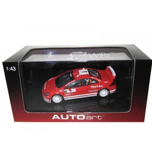Peugeot 307 WRC 2004 5 Rally Monte Carlo M.Gronholm/T.Rautiainen 1/43 Diecast Car Model by Autoart