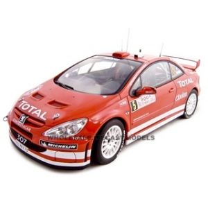 Peugeot 307 WRC 2004 M.Gronholm/T.Rautiainen 5 Rally of Monte Carlo 1/18 Diecast Model Car by Autoart