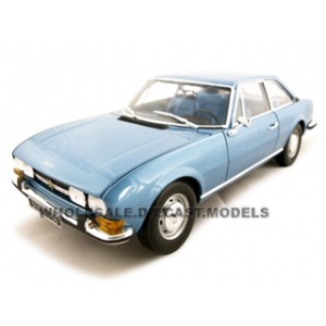 Peugeot 504 Blue 1/18 Diecast Car Model by Norev