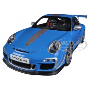 Porsche 911 997 GT3 RS 4.0 Blue 1/18 Diecast Car Model by Autoart