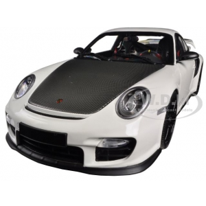 Porsche 911 997 II GT2 RS White with Black Wheels 1/18 Diecast Model Car by Minichamps