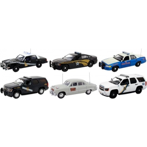 Set of 6 Police Cars Release 1 1/43 Diecast Car Models by First Response