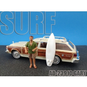 Surfer Gary Figure For 124 Diecast Model Cars by American Diorama
