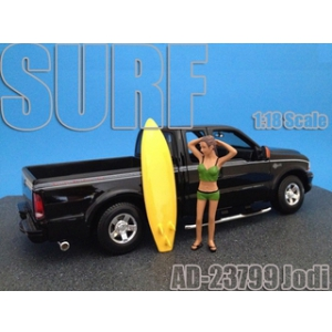 Surfer Jodi Figure For 118 Diecast Model Cars by American Diorama