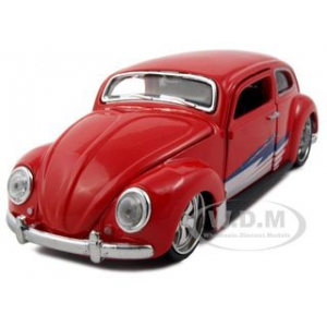 "Volkswagen Beetle Red/Blue/White ""All Stars"" 1/24  Diecast Model Car by Maisto"