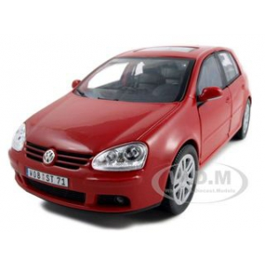Volkswagen Golf V Red 1/18 Diecast Model Car by Bburago