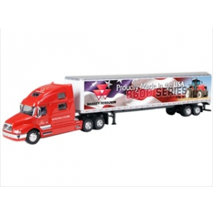 "Volvo 770 Massey Ferguson ""Proudly Made In America"" Semi Tractor with Trailer 1/64 Diecast Model Car by Speccast"